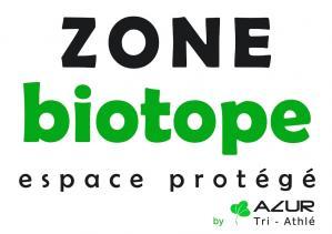 Zone biotope matérialisée par Azur Tri - Athlé